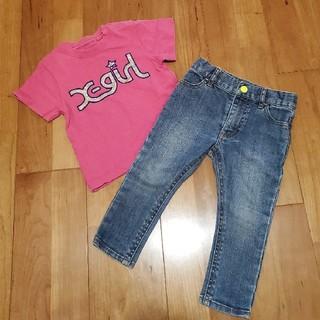 エックスガール(X-girl)のデニムパンツ&Tシャツ(Tシャツ/カットソー)