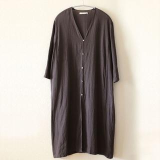 エヴァムエヴァ(evam eva)のevam eva linen robe (カーディガン)
