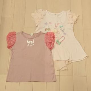 サンカンシオン(3can4on)のこども服 女の子 120cm Tシャツ 2着(Tシャツ/カットソー)