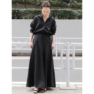 プラージュ(Plage)のPlage Linen シャツ ブラック 36(シャツ/ブラウス(長袖/七分))