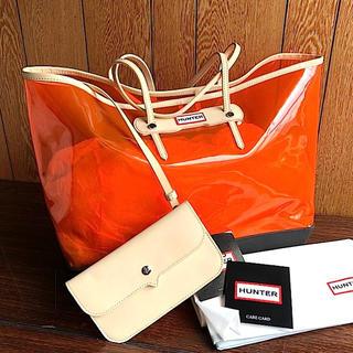 ハンター(HUNTER)の新品 HUNTER★クリア トートバッグ オレンジ PVC スケルトン ハンター(トートバッグ)