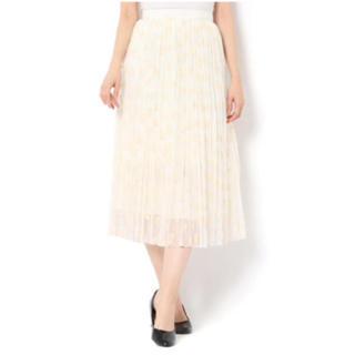 ノーブル(Noble)の【80%off】allureville  フロッキーレオパードプリーツスカート(ひざ丈スカート)