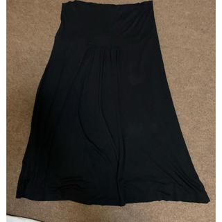 アニエスベー(agnes b.)のアニエス・ベー 黒 ロングスカート サイズ3(ロングスカート)
