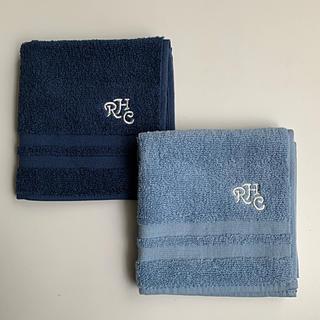 ロンハーマン(Ron Herman)のロンハーマン☆ RHC☆ ハンドタオル【Navy&Blue】2枚セット(ハンカチ/ポケットチーフ)