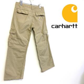 カーハート(carhartt)の美品 carhartt コットンカーゴパンツ メンズL ベージュ(ワークパンツ/カーゴパンツ)