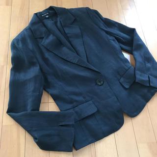 エポカ(EPOCA)のエポカ 高級リネン ジャケット 美品 40 麻 レディース テーラード(テーラードジャケット)