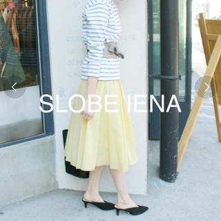 イエナスローブ(IENA SLOBE)のSLOBE IENA コットンスカート 36サイズ(ひざ丈スカート)