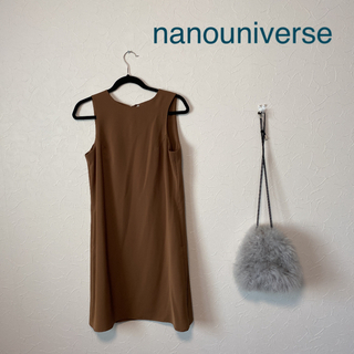 ナノユニバース(nano・universe)の【美品】ナノユニバース ワンピース M  バックリボン(ひざ丈ワンピース)