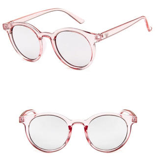アメリヴィンテージ(Ameri VINTAGE)の新品  ピンク×シルバー ミラーサングラス おしゃれ軽量サングラス(サングラス/メガネ)