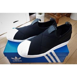 アディダス(adidas)のアディダスオリジナルス SSスリッポン 黒 26.5(スリッポン/モカシン)
