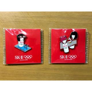 エスケーツー(SK-II)のSK-Ⅱ オリンピックピンバッジ 2個セット(バッジ/ピンバッジ)