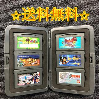 ゲームボーイアドバンス(ゲームボーイアドバンス)のゲームボーイカセット6個セット(+ケース付き)(家庭用ゲームソフト)