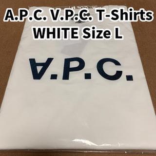 アーペーセー(A.P.C)のA.P.C. V.P.C. Tシャツ カットソー ホワイト Lサイズ VPC(Tシャツ/カットソー(半袖/袖なし))