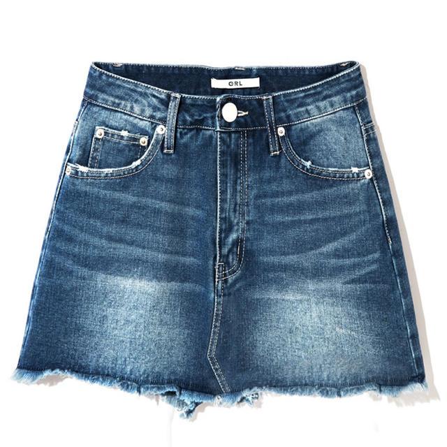 GRL(グレイル)のデニム ミニスカパン GRL レディースのスカート(ミニスカート)の商品写真