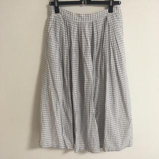 イッカ(ikka)のikka  ギンガムチェックスカート M(ひざ丈スカート)