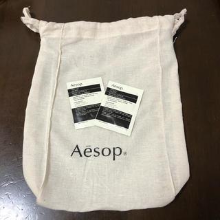 イソップ(Aesop)のaesop 巾着&ヘアバームサンプル(ヘアワックス/ヘアクリーム)