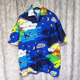カステルバジャック(CASTELBAJAC)のCASTELBAJAC ルーニーテューンズ総柄オープンシャツ(シャツ)