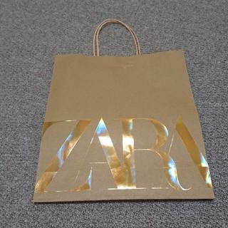 ザラ(ZARA)のZARA紙袋 ゴールド(ショップ袋)