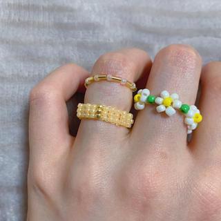 ディーホリック(dholic)のリング 指輪 韓国 ビーズ 3点セットNo.33(リング)