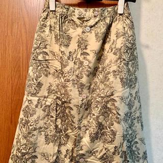 ハナエモリ(HANAE MORI)のHANAE MORIボタニカル柄スカート(ひざ丈スカート)