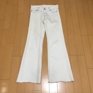 ビッキー(VICKY)の#VICKY#パンツ#デニム#ホワイト#サイズ0#綿×ポリウレタン#ビッキー(デニム/ジーンズ)