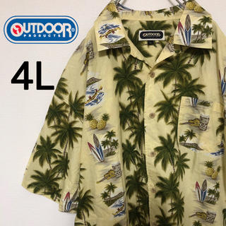 OUTDOOR PRODUCTS - アウトドアプロダクツ アロハシャツ 4L コットン素材 ビッグシルエット 古着