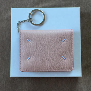 マルタンマルジェラ(Maison Martin Margiela)の新品 メゾン マルジェラ キーリング 折り財布 レザー カードケース ピンク(財布)