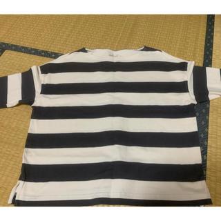 ムジルシリョウヒン(MUJI (無印良品))の無印良品 ボーダーカットソー   (カットソー(半袖/袖なし))