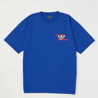 RODEO CROWNS WIDE BOWL - ロデオクラウンズ Doctor Mouse Tシャツ ブルー M