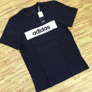 アディダス(adidas)の【新品】アディダス 半袖Tシャツ サイズL   ブラック(Tシャツ/カットソー(半袖/袖なし))