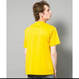 ジョンローレンスサリバン(JOHN LAWRENCE SULLIVAN)の【新品 未使用】BACK PRINTED TEE YELLOW(Tシャツ/カットソー(半袖/袖なし))
