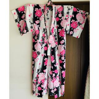 【クリーニング済】ホンコンマダム  レディース浴衣3点セット(浴衣)