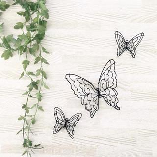ワイヤークラフト♢蝶々 3点セット(インテリア雑貨)