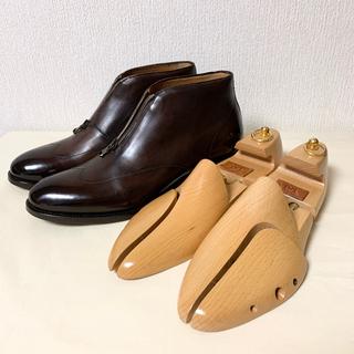 ベルルッティ(Berluti)のフランチェスコベニーニョ ブラウンパティーヌ フロントジップブーツ(ドレス/ビジネス)