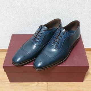 クロケットアンドジョーンズ(Crockett&Jones)の未使用品 carmina 靴 シューズ カルミーナ 切替 (ドレス/ビジネス)