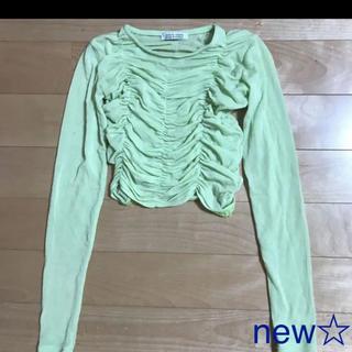 スタイルナンダ(STYLENANDA)のNEW2020クロップトップ・韓国スタイル(Tシャツ(長袖/七分))