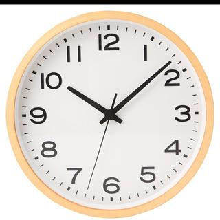 ムジルシリョウヒン(MUJI (無印良品))の新品 ★無印良品 アナログ時計・大 掛時計・ブナ材 ナチュラル 限定 掛時計∞(掛時計/柱時計)