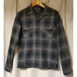 ルードギャラリー(RUDE GALLERY)のRude Gallery オンブレチェックシャツ 黒×グレー サイズ2(シャツ)