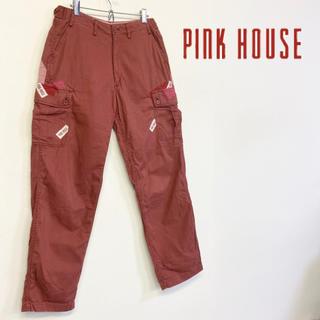 ピンクハウス(PINK HOUSE)の美品 PINK HOUSE ワッペンパッチワーク カーゴパンツ(ワークパンツ/カーゴパンツ)
