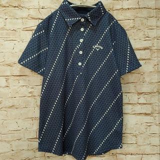 【Callaway】キャロウェイ ゴルフウェア 総柄 ポロシャツ Mサイズ