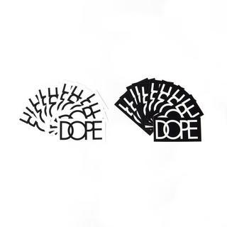 送込 DOPE couture(ドープクチュール)ステッカー 白/黒 2枚セット(その他)