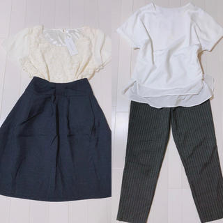 ナチュラルビューティーベーシック(NATURAL BEAUTY BASIC)の大人可愛いコーデ2点セット(Tシャツ(半袖/袖なし))