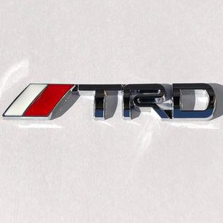 トヨタ - 3Dエンブレム 【TRD】 トヨタ シルバー
