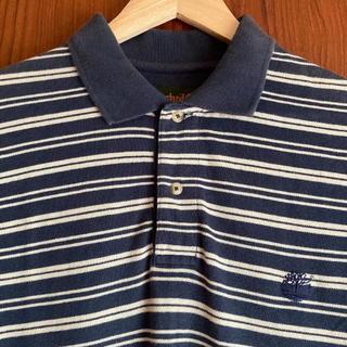 ティンバーランド(Timberland)の【Timberland】半袖 ボーダー ポロシャツ メンズ XS ネイビー(ポロシャツ)