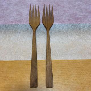 フランフラン(Francfranc)の【新品】Francfranc フランフラン チークウッド ディナーフォーク 2個(カトラリー/箸)