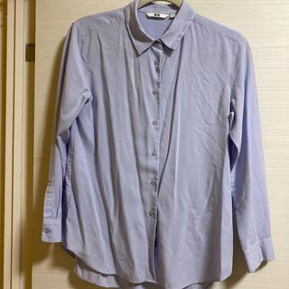 ユニクロ(UNIQLO)のユニクロ 長袖シャツ ブルー(シャツ/ブラウス(長袖/七分))