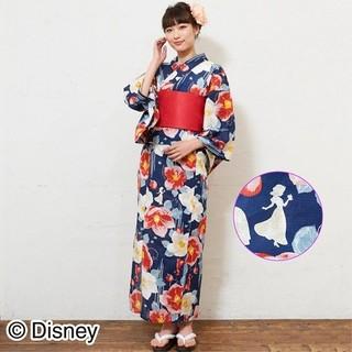 ディズニー(Disney)の【新品】浴衣 レディース 白雪姫 花柄  4点セット ディズニー  椿(浴衣)