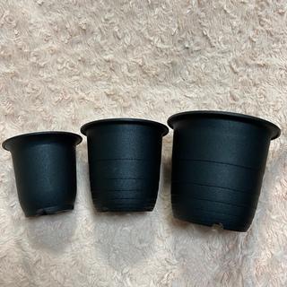 プラ鉢 黒 2.5号 3号 3.5号 組み合わせ合計15個 鉢 植木鉢(プランター)