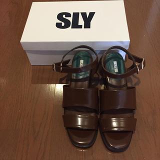 スライ(SLY)の新品未使用 SLY サンダル(サンダル)
