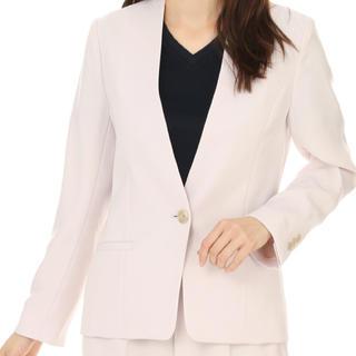 アオヤマ(青山)の洋服の青山 1つボタンノーカラージャケット、パンツ2点セット(スーツ)